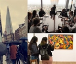 Young people soak up views from The Shard