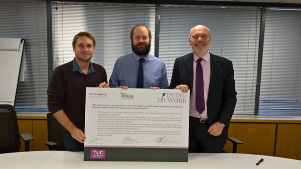 Prospects commit to TUC's Dying to Work Charter